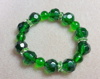 Saint Patrick Day Emerald Bracelet