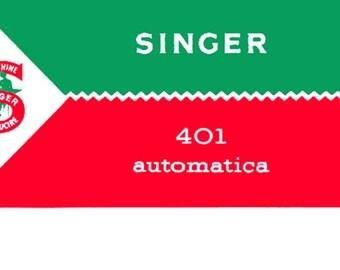 Manuale  Singer401 Automatica in italiano
