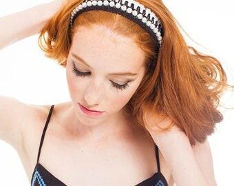 FESTIVAL CAPSULE COLLECTION // Bella Fringe Pearl Headband. festival fashion, hair accessories, boho headpiece