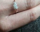 Aquamarine Crystal ring- made to order natural