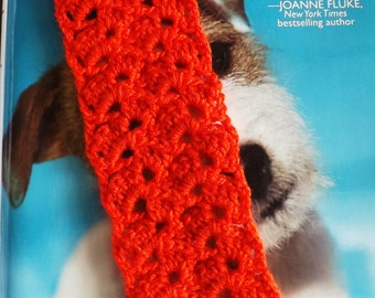 crochet bookmark red shell crochet bookmark