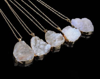 Crystal Ice Quartz Crystal Necklace
