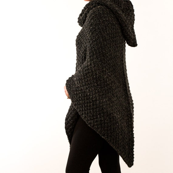 Poncho Jacket Knitting Pattern : Poncho Knitting Pattern 203 Knit Pull Over Knit Jacket