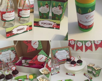 Woodland Fairy Personalised Party Package - Printed & Shipped - see listing for description of items