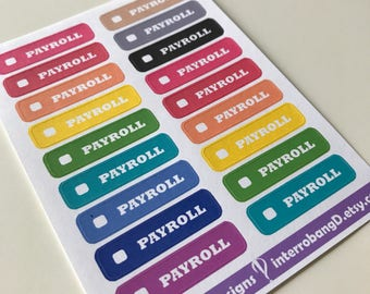 A51 - Payroll - Planner Stickers
