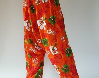 HL0018 Harem Pants in Navy Unisex Low Crotch Yoga Trousers gypsy pants rayon pants,aladdin pants maxi pants boho pants