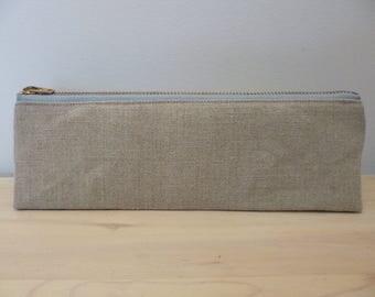 Hemp Canvas & Organic Cotton Pencil Case