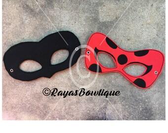 Miraculous Ladybug and Cat Noir masks