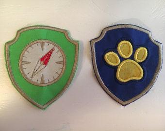 Paw Patrol Badges-Tracker and Apollo