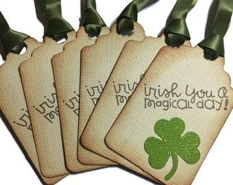 St Patricks Shamrock Gift Tag Card -Set of 6