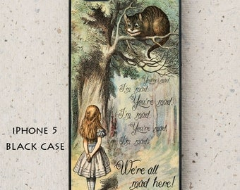 iPhone Cover(all models) - Samsung Galaxy case & others -  Alice in Wonderland -  hard plastic or rubber - smartphone - mobile - cover