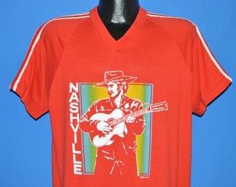ON SALE 80s Nashville Tennessee Rainbow Jersey t-shirt Extra Large