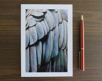 Greeting Card, Handmade Photo Note Card, Blank Thank You Card, Modern Photography, Small 4x6, 5x7 Feather Art Print, Australian Seller