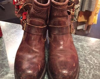 Chippewa Motorcycle Boots Brown