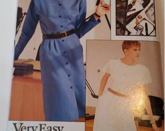 Vintage Very Easy Very Vogue Sewing Pattern 7144 Misses' Dress in size 6, 8, 10