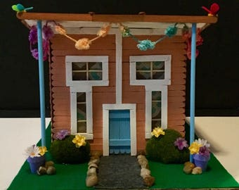 SALE Miniature Summer Party House