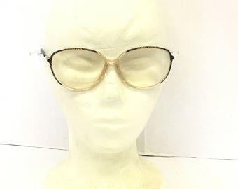 Vintage Eyeglass Frames / austria designed glasses / silhouette glasses / designer glasses / mod frame glasses