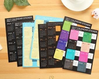 2017 Calendar Tab Stickers ST1711CA