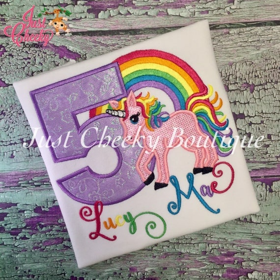 Rainbow Unicorn Birthday Shirt - Unicorn Birthday Shirt - Unicorn Birthday Outfit - Rainbow Birthday Shirt - Rainbow Party - First Birthday