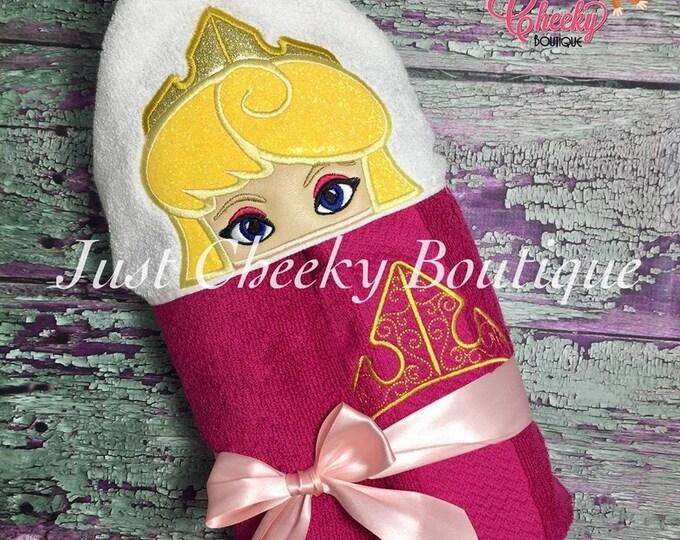 Sleeping Princess Inspired Hooded Towel - Sleeping Beauty - Princess Aurora - Disney Birthday - Disney Princess