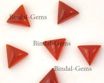 10 Pieces Amazing Lot Red Onyx Triangle Shape Loose Cabochon Gemstone