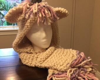 Unicorn hood wrap