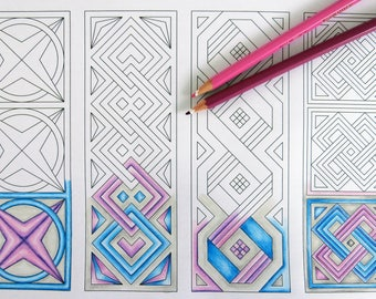 Cororing Page, Printable Coloring sheet, Bookmarks instant download