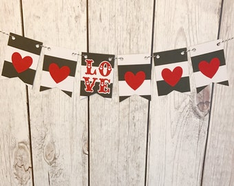 Heart Valentines Day Banner, Happy Valentines day, heart banner