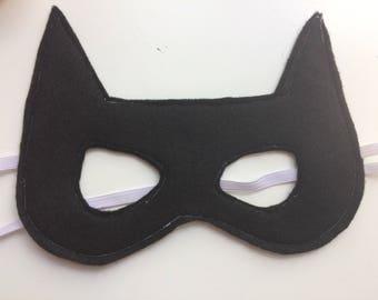Felt Batman - Bat girl - Catwoman mask - Felt superhero masks