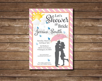 Shower the Bride - Bridal Shower Invitation - Printable - customizable