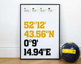 Cambridge United Football Stadium Coordinates Posters