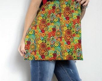 "Tote bag reversible ""SWIRLS"" - spiral printed Sling bag - multicolour"