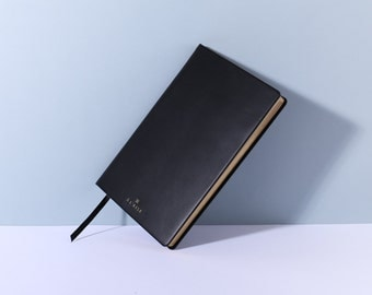Leather Bound Notebook - Black
