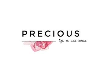 Precious | Premade DIY Photoshop logo design template