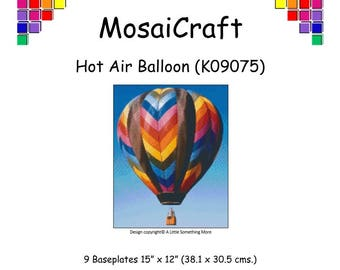 MosaiCraft Pixel Craft Mosaic Art Kit 'Hot Air Balloon' (Like Mini Mosaic and Paint by Numbers) Pixelhobby