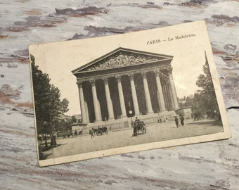 Paris, La Madeleine . French Vintage Postcard . Topographic Postcard France . Paris Postcards . Iconic Paris View .