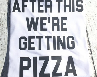 After This We're Getting Pizza- Women's Flowy Racerback Tank Top- Funny Graphic Tee