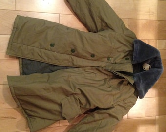 FREE SHIPPING Soviet army USSR Russian military olive officer winter jacket