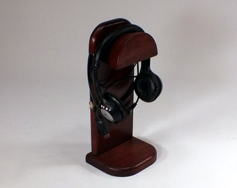 Headphone Stand -  Universally Compatible way to store and display your headphones - hp-1-ch-sh rts