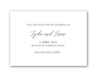 Printable Save the Date | Save the Date | Wedding | Invitation Suite | All Class Suite