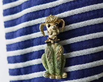1950s/60s Poodle Dog with Bow Brooch