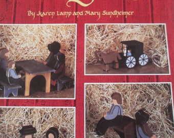 "K Decorative 1987 Tole painting "" An Amish Country Day"" by Karen Lamp and Mary Sundheimer used leaflet 22 pages"