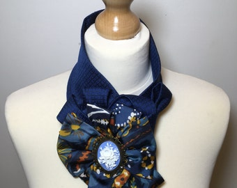 Womens fashion, blue scarf, loop scarf, funky scarf, infinity scarf, ladies cravat,