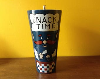 Vintage Snack Time Chef Canister Set Stacking