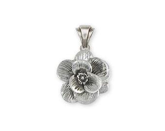 Magnolia Pendant Jewelry Sterling Silver Handmade Flower Pendant MG2-P