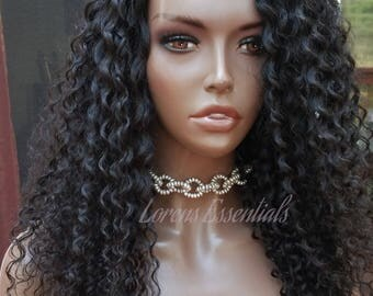 Virgin Remy Human Hair Curly / Deep Curl U part Wig