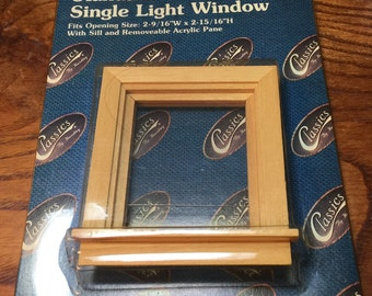 Dollhouse Single Light Windows