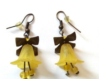 fairy flower lucite flowers earrings crystal