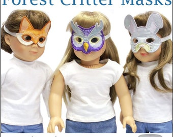 Pixie Faire Doll Tag Designs Forest Critter Masks Machine Embroidery Designs