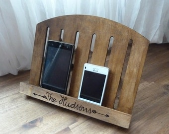 IPad Tablet EBook Holder Cookbook Stand Personalized Wooden Rustic